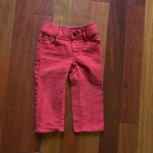 Boys baby Gap holiday red 12-18m jeans knit waist